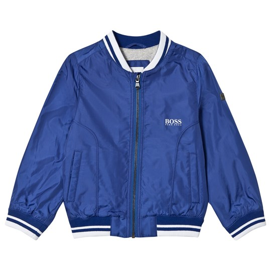 BOSS Blue Lightweight Branded Bomber Jacket 861