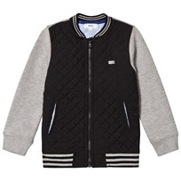 BOSS Black Mesh and Jersey Bomber Jacket 09B