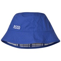 BOSS Blue Reversible into Check Branded Sun Hat 861