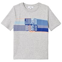 BOSS Grey Multi Colour Branded Tee A89