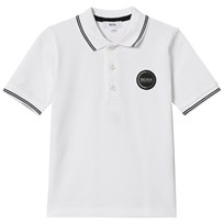 BOSS White Pique Polo with Embroidered Logo 10B