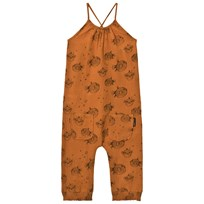 Sproet & Sprout Rust Puffer Fish Print Jumpsuit Rust