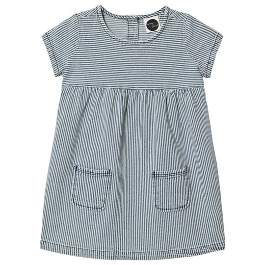 Sproet & Sprout Blue and White Denim Stripe Dress Blue