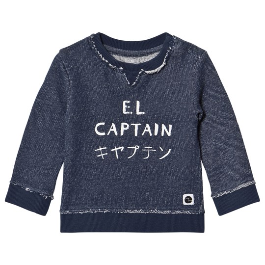 Sproet & Sprout Navy Marl El Captain Print Sweater Navy