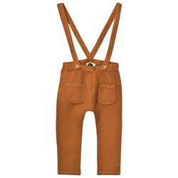 Sproet & Sprout Rust Waffle Overalls