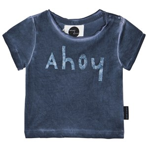 Image of Sproet & Sprout Blue Ahoy Print Tee 62-68 (3-6 months) (2968925001)