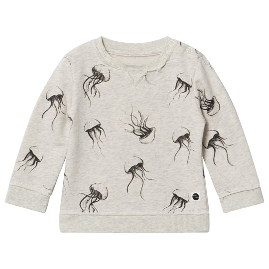 Sproet & Sprout Cream Marl Jelly Fish Sweater Cream Marl