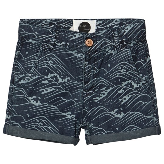 Sproet & Sprout Chambray Wave Print Shorts Blå Blue
