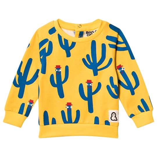 Boys & Girls Happy Cacti Crew Top Yellow Yellow