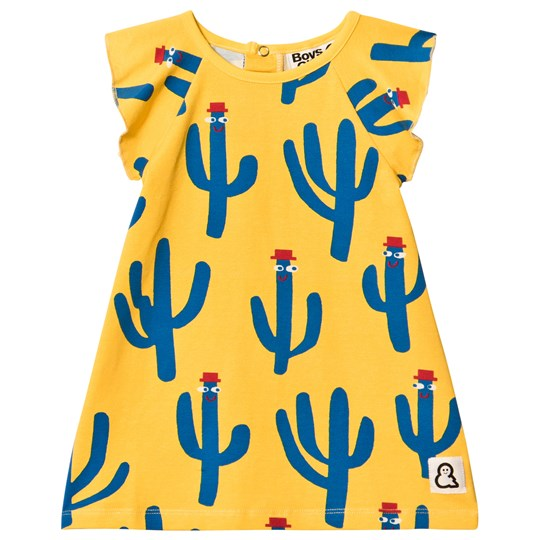 Boys & Girls Happy Cacti Dress Yellow Yellow