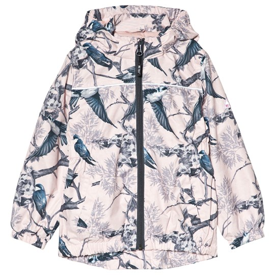 Me Too Bird Print Jacket Peachskin Pink
