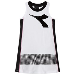 Diadora White Logo and Side Panel Vest Dress