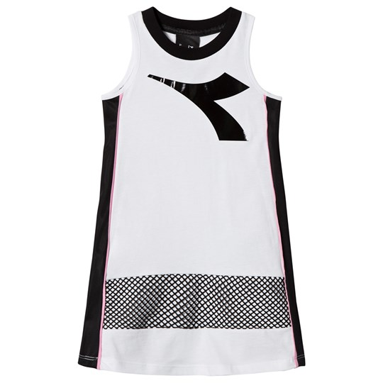 Diadora White Logo and Side Panel Vest Dress 001
