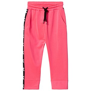 Image of Diadora Fluro Pink Tech Fabric Branded Side Track Bottoms L (12 years) (1000078)