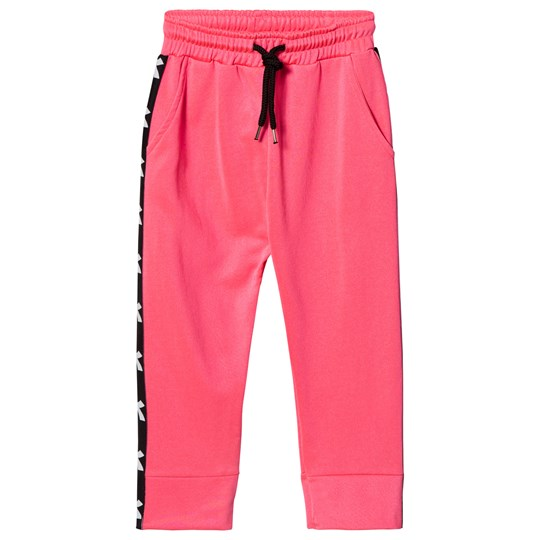 Diadora Fluro Pink Tech Fabric Branded Side Track Bottoms 134
