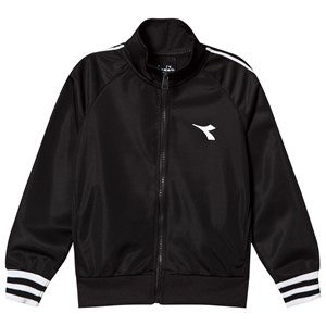 Image of Diadora Black Tech Fabric Branded Jacket XXS (4 years) (999965)
