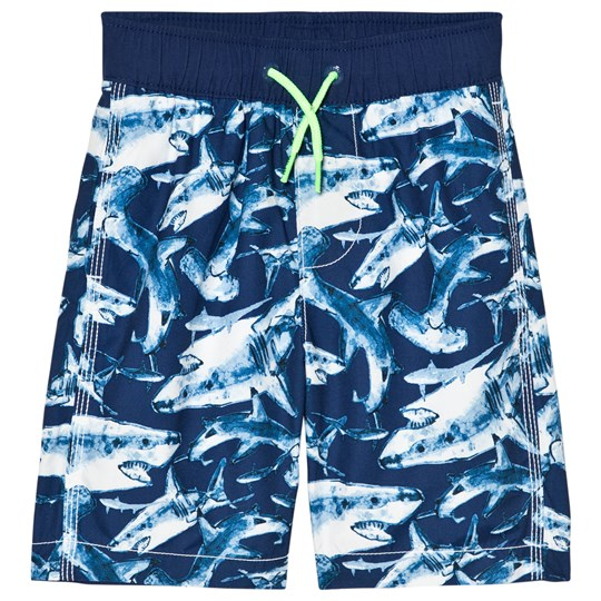GAP Deep Cobalt Shark Swim Trunks DEEP COBALT