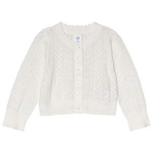 Image of GAP Eyelet Cardigan Sweater New Off White 4 år (2969781633)