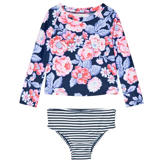 Gap Rashguard Two-Piece Navy Floral Navy Floral