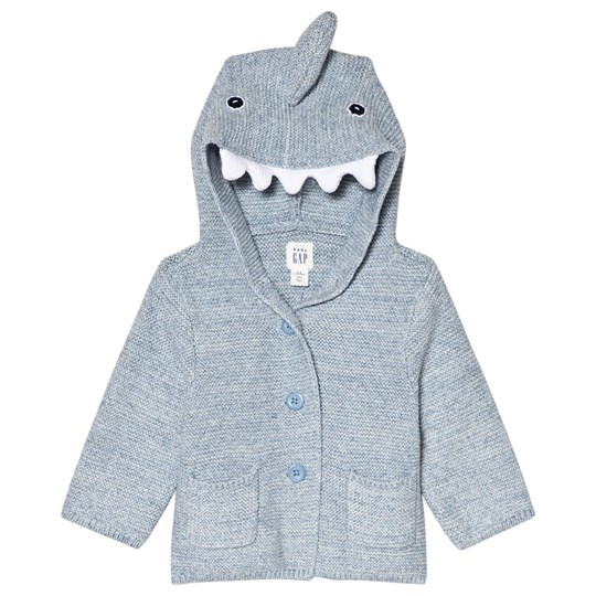 GAP Shark Grtr Sweaters Blue Heather BLUE HEATHER
