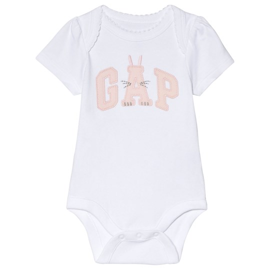 GAP Navy Graphic Baby Body OPTIC WHITE