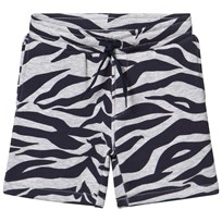 Kenzo Grey and Navy Tiger Print Branded Shorts 22