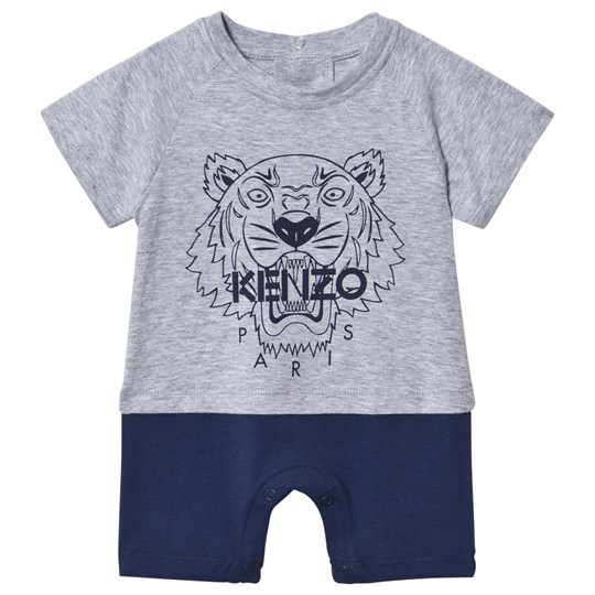 Kenzo Grey and Navy Tiger Romper 22