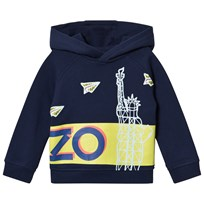 Kenzo Navy Statue of Liberty Paper Planes Logo Hoody 49