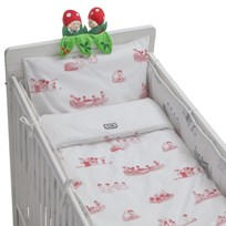 rattstart Bed Set Beskow in Red White