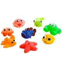 rattstart Coral Sun and Fun Bath Toys 8-Pack White