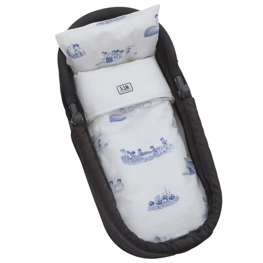 rattstart Bed Set Beskow for Pram/Cradle Blue White