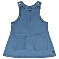 Tom Joule Jersey Denim Pinafore Dress Denim