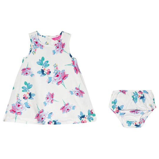 Tom Joule Floral Printed Woven Dress and Bloomers Creme Posy (Pip Floral)