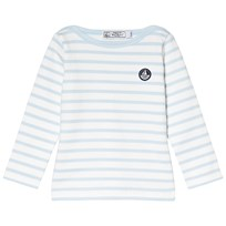 Petit Bateau Long Sleeve Stripe Tee Light Blue