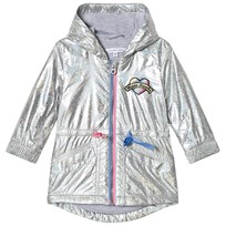 Little Marc Jacobs Silver Holographic Parka with Branded Patch M31