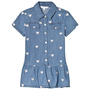 Image of Little Marc Jacobs Heart Denim Dress 8 years (2969779205)