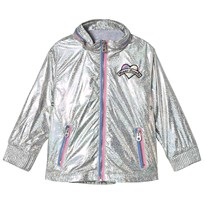 Little Marc Jacobs Silver Holographic Branded Water Resistant Jacket M31
