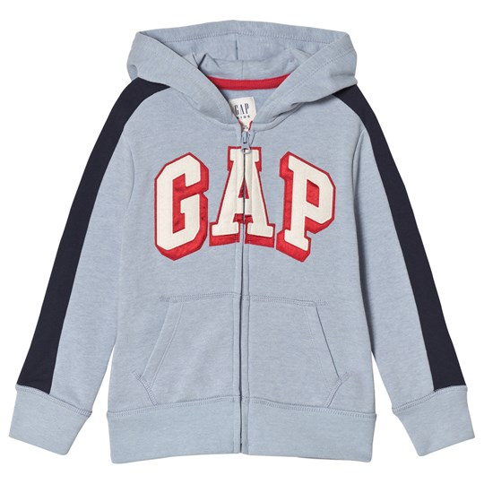 GAP Fleece Logo Zip Hoodie Blue Heather BLUE HEATHER