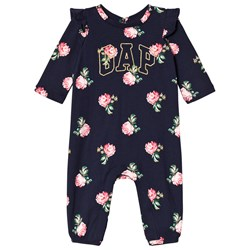 GAP Navy Floral Branded One-Piece