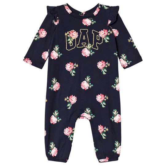 GAP Navy Floral Branded One-Piece NAVY UNIFORM