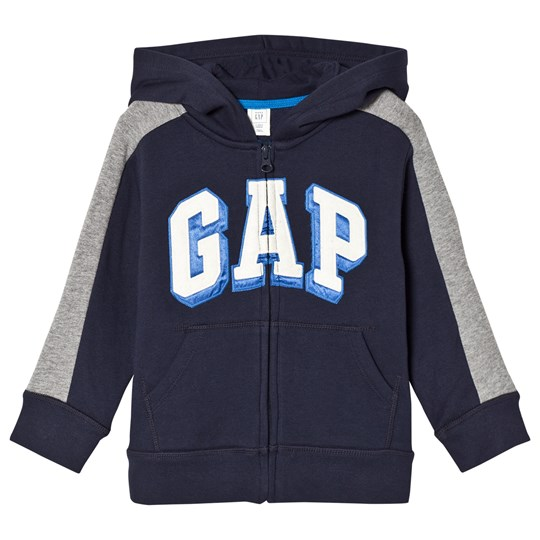 GAP Fleece Logo Zip Hoodie True Indigo TRUE INDIGO 340