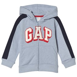 GAP Fleece Logo Zip Baby Hættetrøje Blue Heather