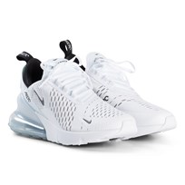 NIKE White and Black Nike Air Max GS Shoes 100