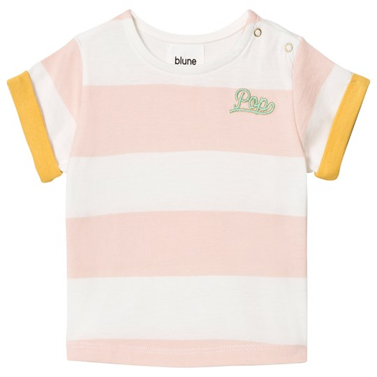 Blune Embroidered Stripe Tee Fraise Fraise