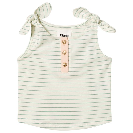 Blune Striped Tank Top with Knot Craie/Pomme CRAIE/POMME