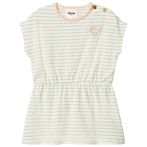 Image of Blune Stripe Dress with Embroidery Craie/Pomme 12 mdr (2970788099)