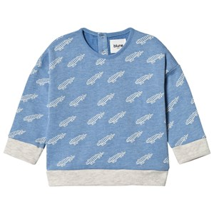 Image of Blune Allover Printed Sweater Bleu Chiné 3 år (2970786261)