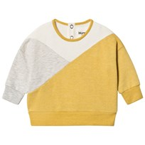 Blune Sweater With Yokes Gris/Soleil GRIS/SOLEIL