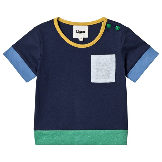 Blune Tee with Patch Pocket Navy Navy
