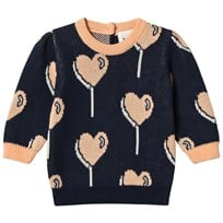Blune Allover Printed Pullover Navy Navy